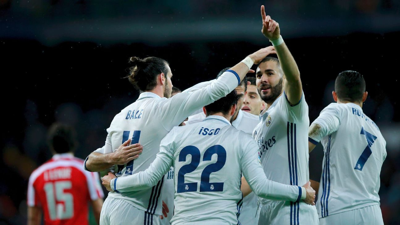 Real Madrid celeb Bilbao Benzema