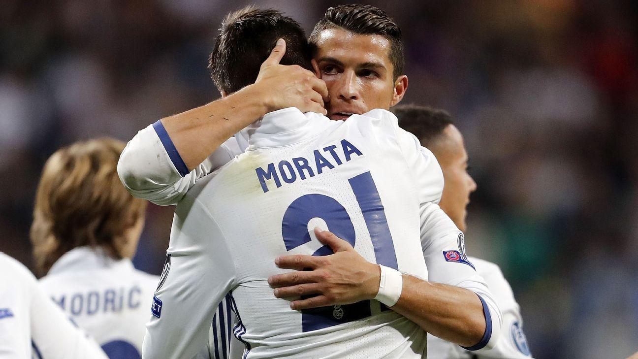 Cristiano Ronaldo and Alvaro Morata