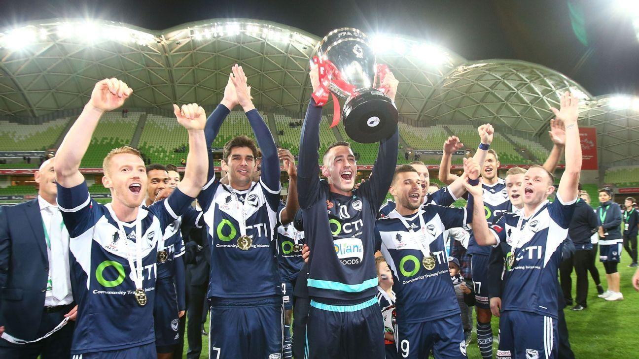 Melbourne Victory celebrates
