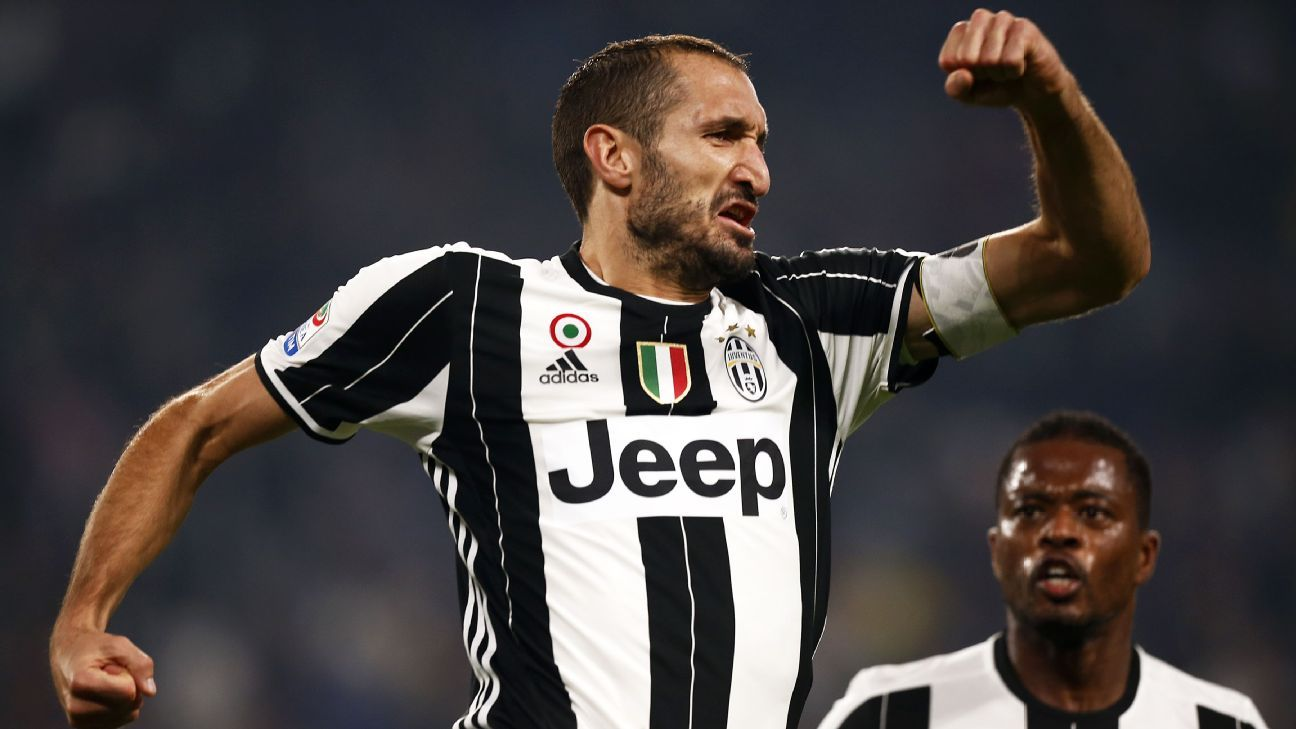 Giorgio Chiellini scored a brace to set Juventus on their way.