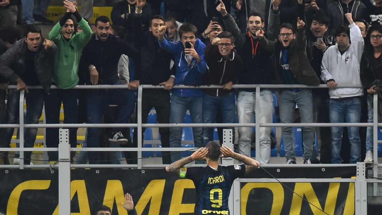 Inter striker Mauro Icardi