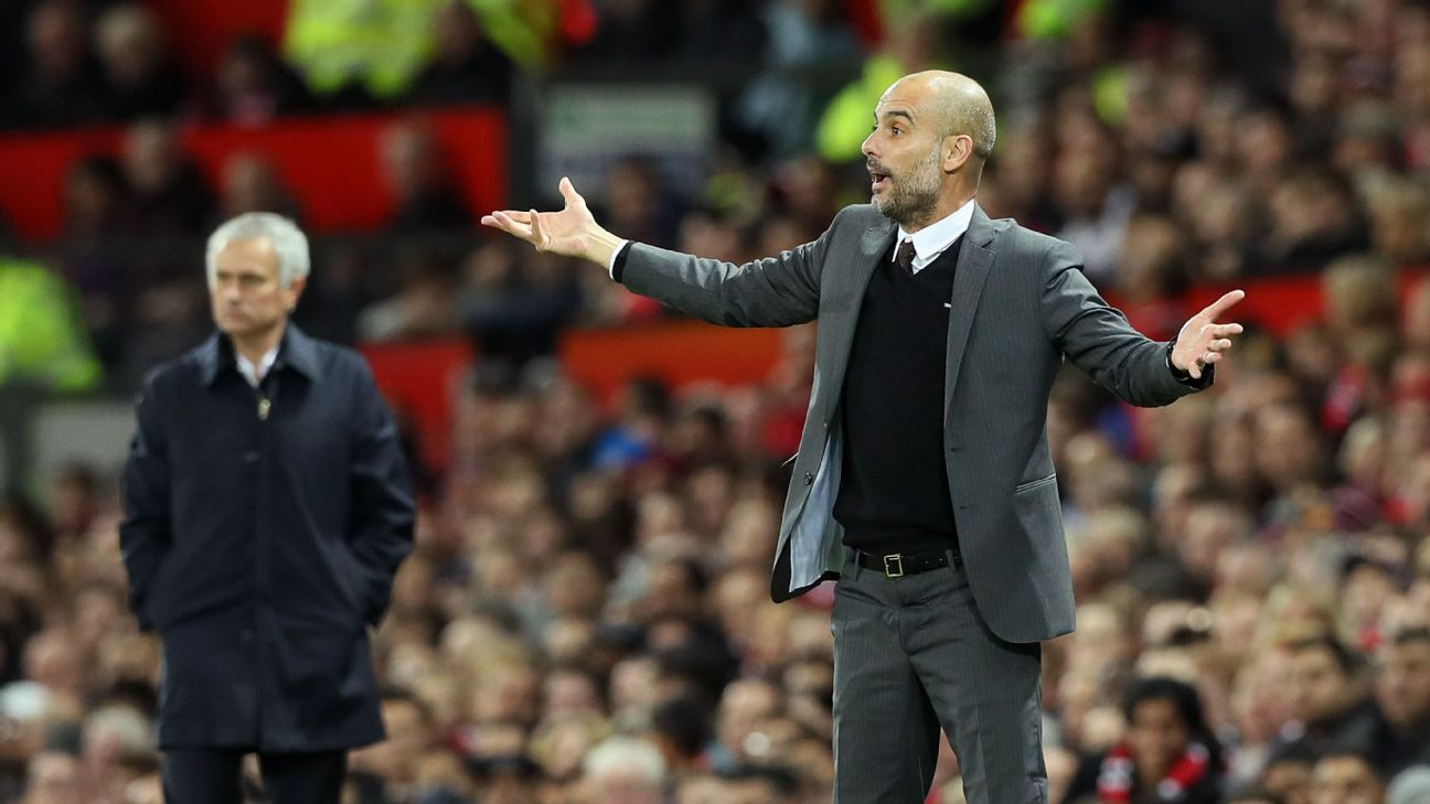 Pep Guardiola shows his frustration with Manchester City