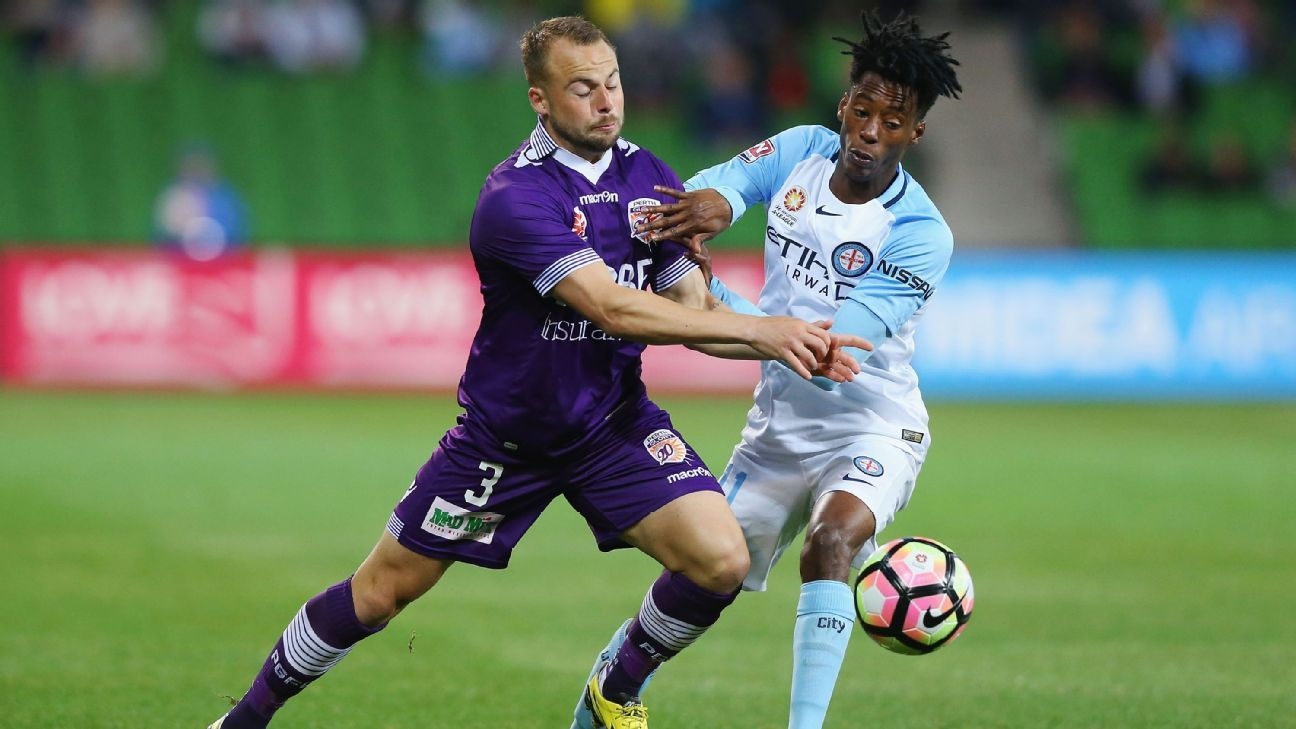 Melbourne City winger Bruce Kamau