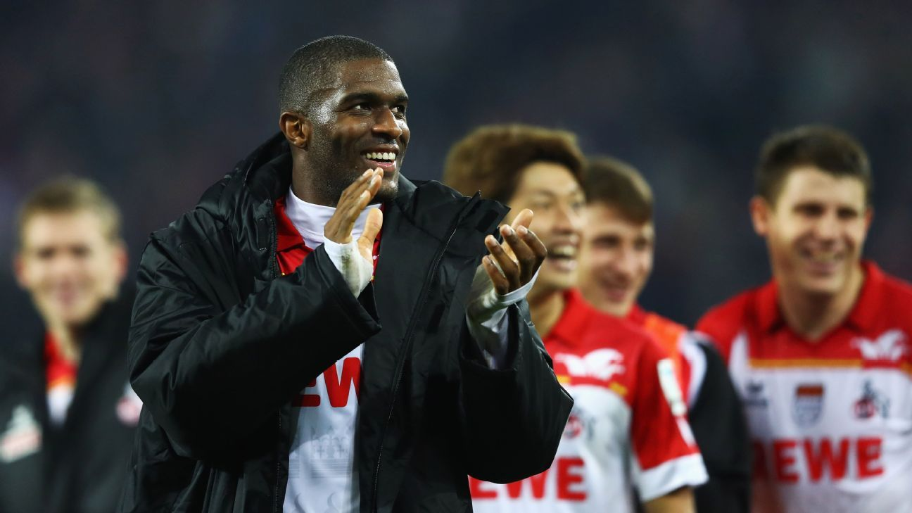 Anthony Modeste's hat trick guided Cologne to a big win.