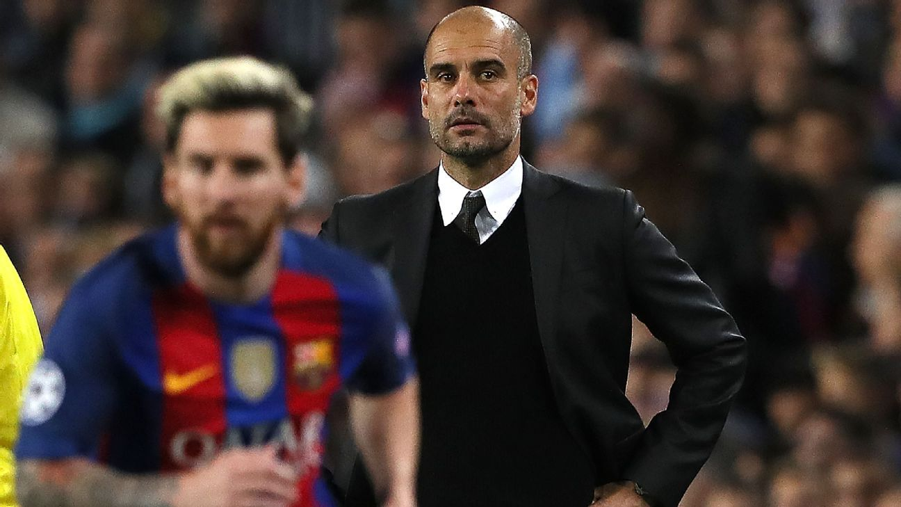 Pep Guardiola could only watch on as Messi destroyed his team.