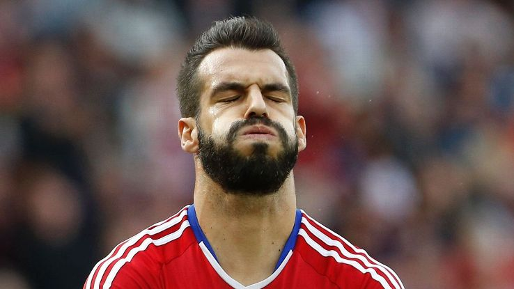 Britain Football Soccer - Middlesbrough v Tottenham Hotspur - Premier League - The Riverside Stadium - 24/9/16  Middlesbrough's Alvaro Negredo looks dejected after missing a chance to score