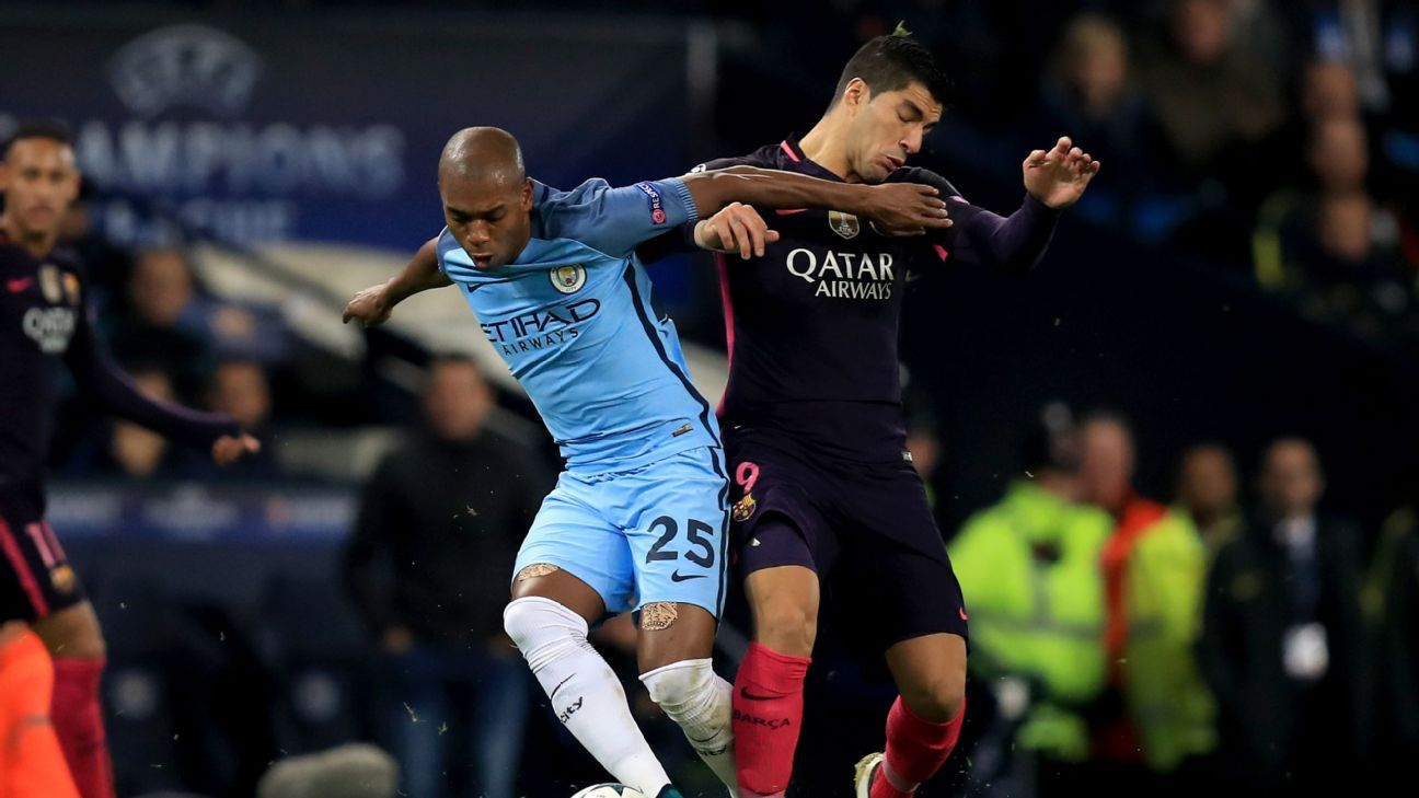 Manchester City s Fernandinho hits out at absurd Lionel Messi