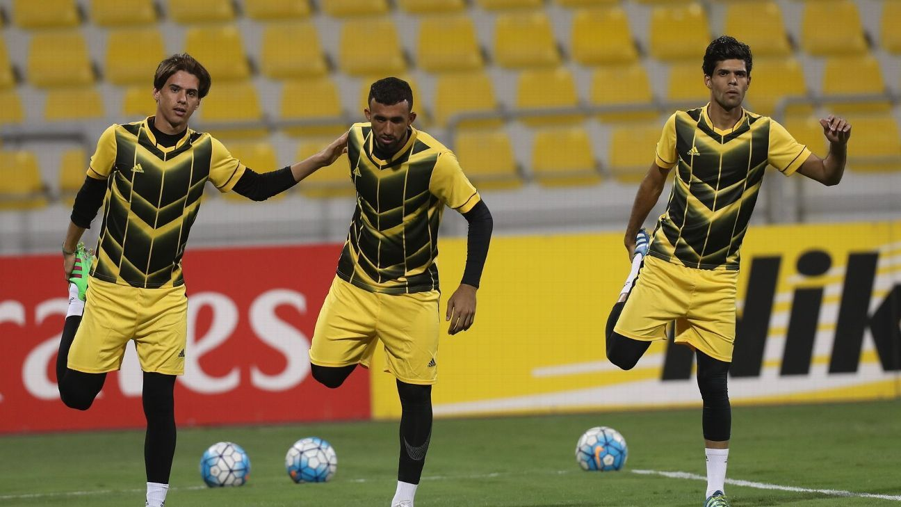 Air Force Club players practice ahead of the AFC Cup final against Bengaluru FC on November 5.