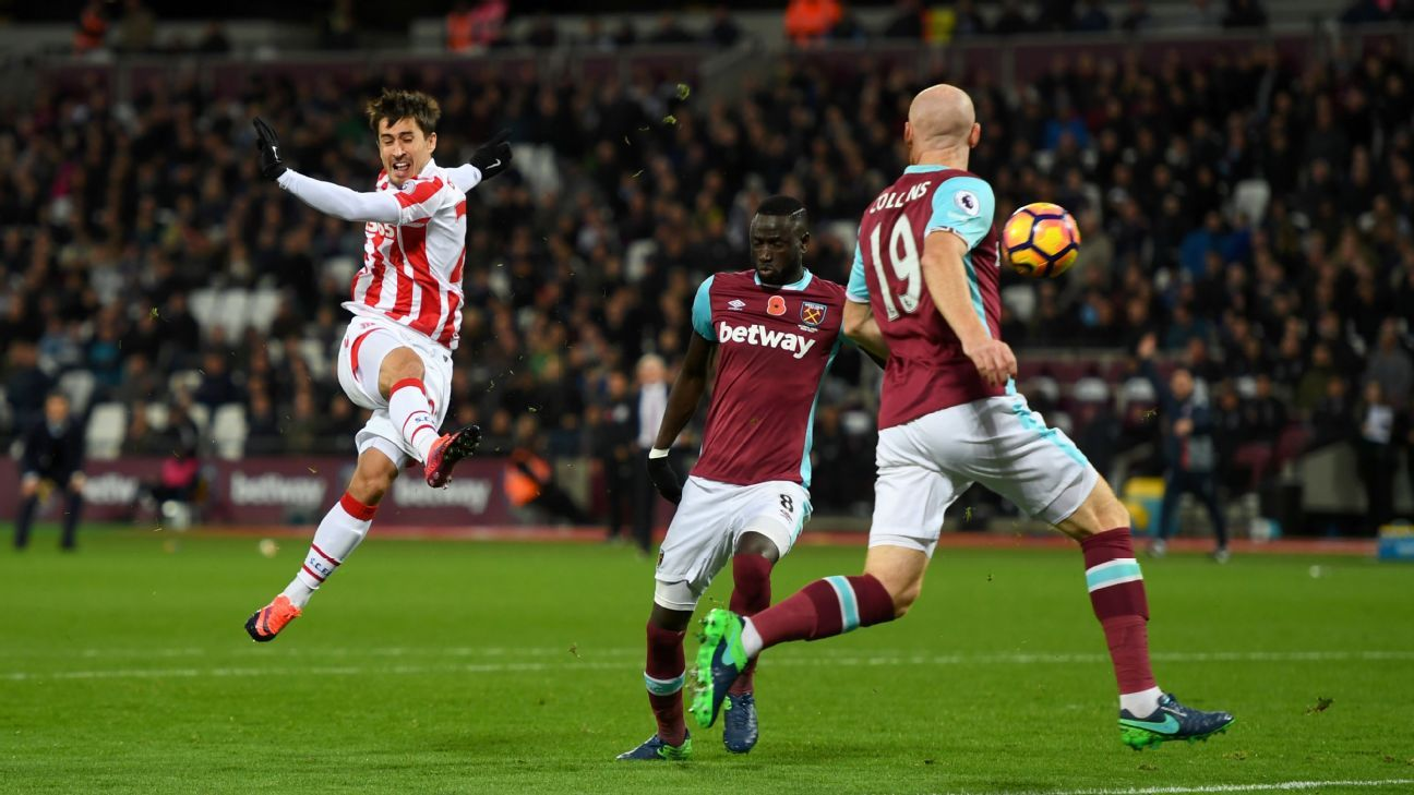 Bojan Krkic netted Stoke's equaliser at the London Stadium.