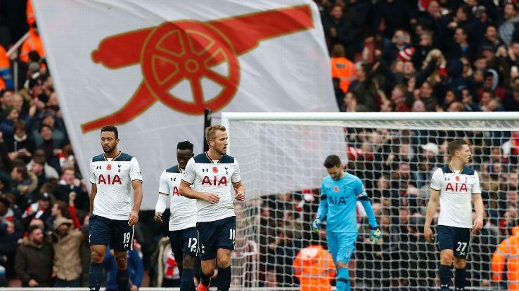 Tottenham players react after Tottenham Hotspur's Austrian defender Kevin Wimmer scored an own goal.