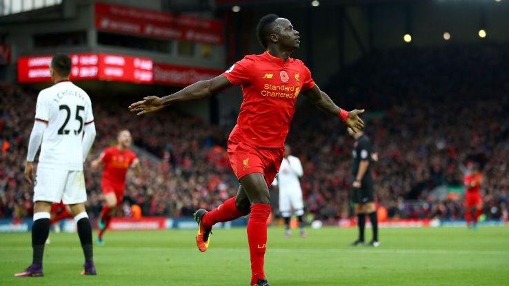Sadio Mane opened the scoring in Liverpool's fixture against Watford.
