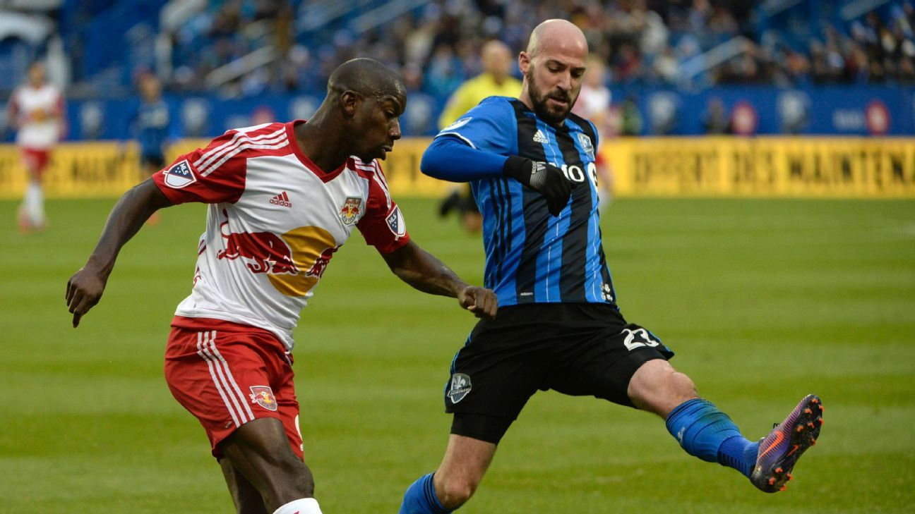 Bradley Wright-Phillips and Laurent Ciman