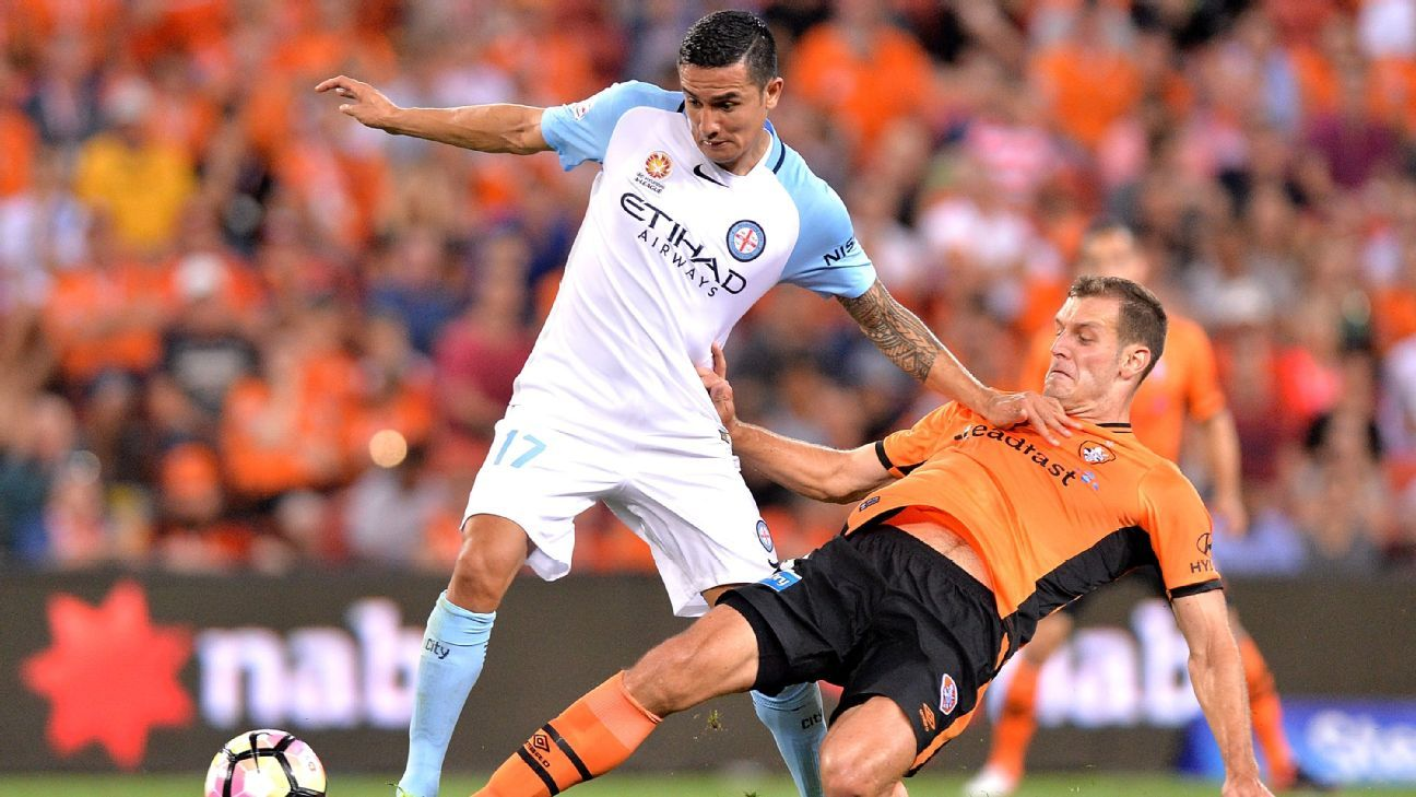 Brisbane Roar defender Luke DeVere