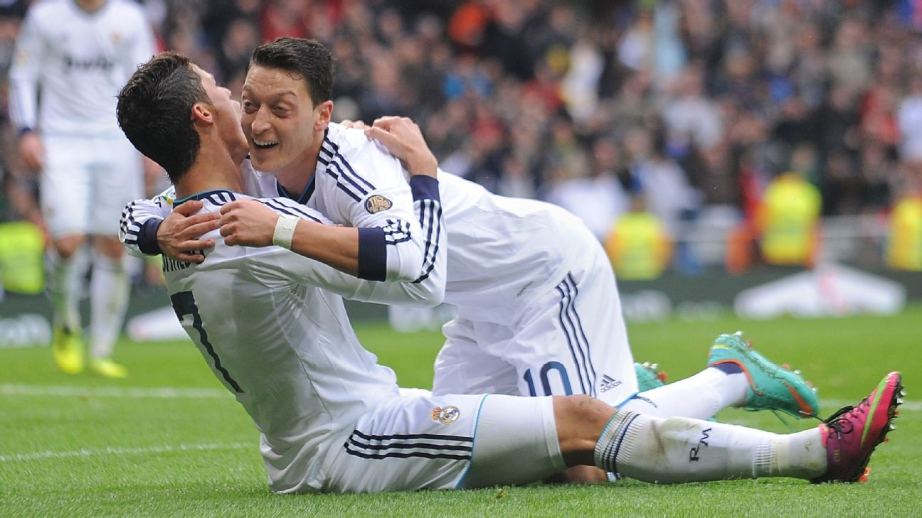 Cristiano Ronaldo and Mesut Ozil