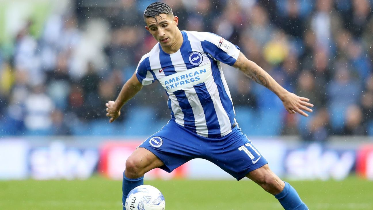 Anthony Knockaert of Brighton and Hove Albion
