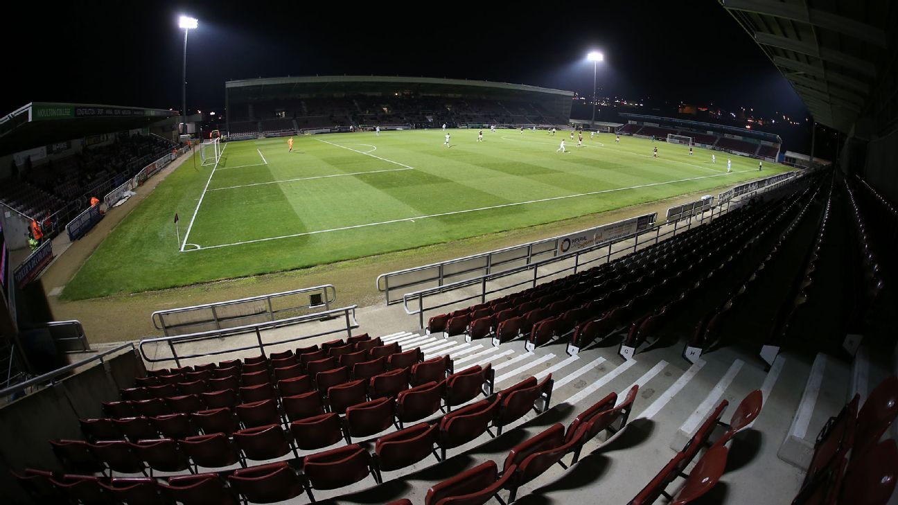 A general view of Sixfields Stadium  during the EFL Checkatrade Trophy match between Northampton Town and West Ham United.