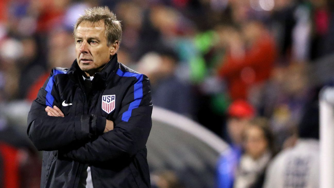 Jurgen Klinsmann has not managed since he was sacked by the United States in November 2016.