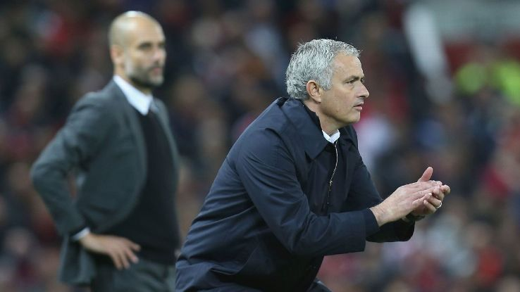 Jose Mourinho and Man United can gain ground and open the title race back up with a win vs. City.