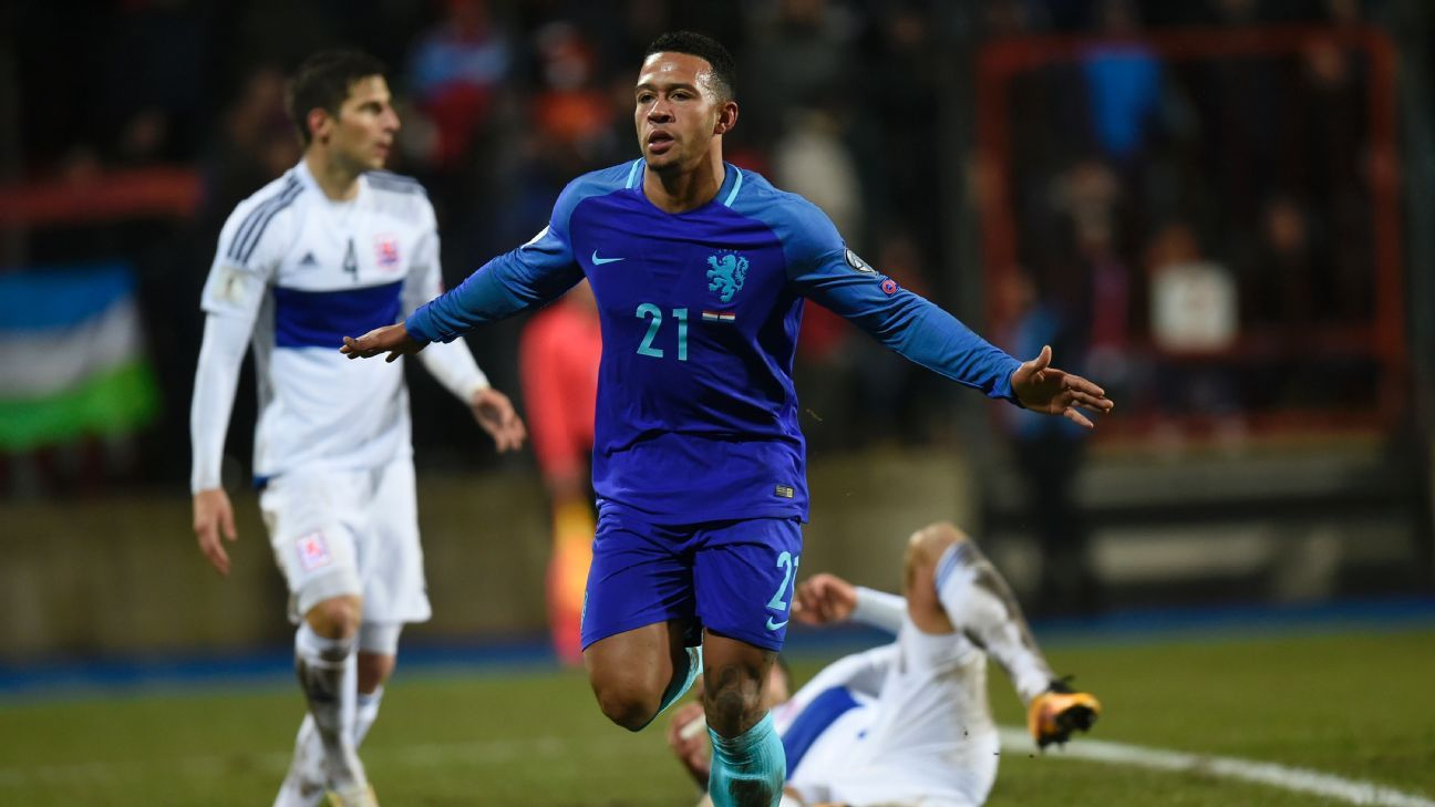Memphis Depay stepped off the bench to score twice against Luxembourg on Sunday.