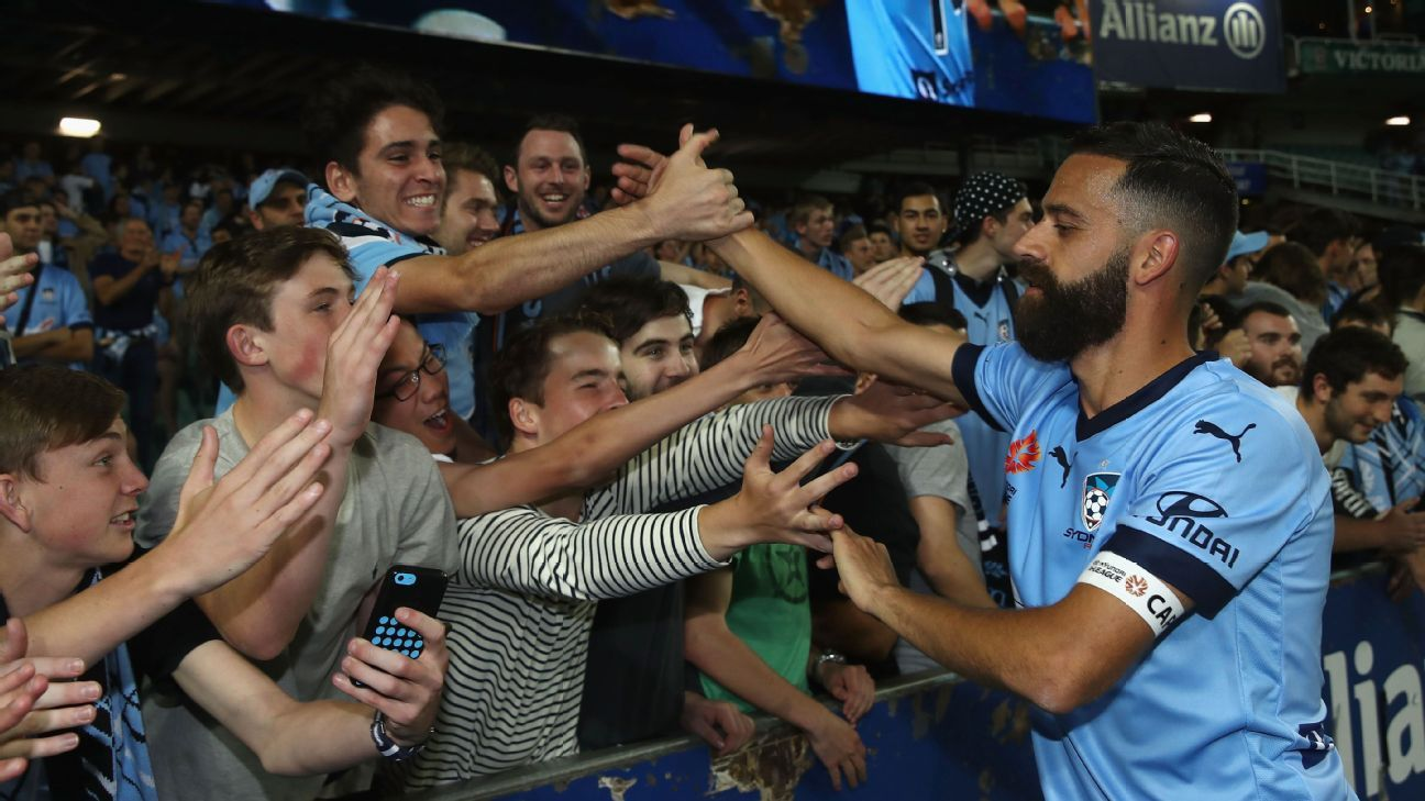 Sydney FC captain Alex Brosque