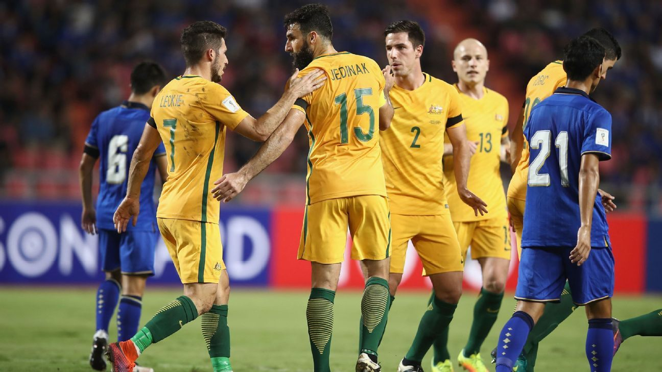 Australia needed a brace from Mile Jedinak to snatch a point in Bangkok.