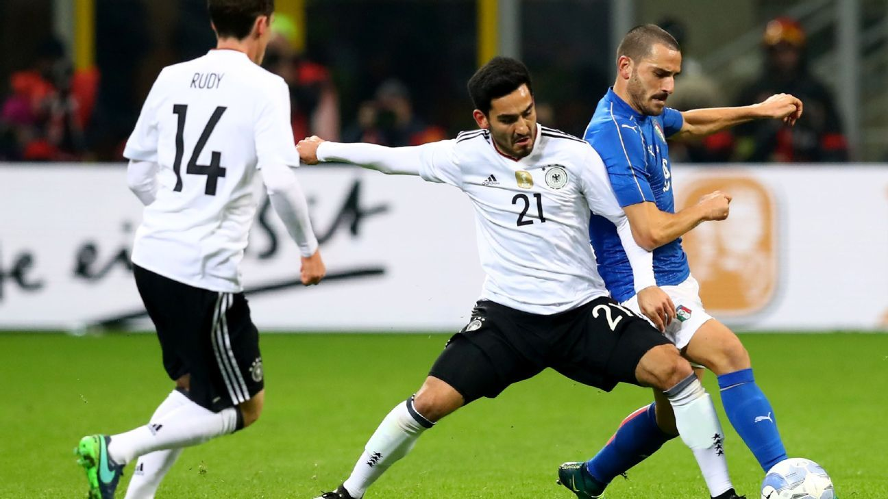 Italy and Germany played to a stalemate on Tuesday.