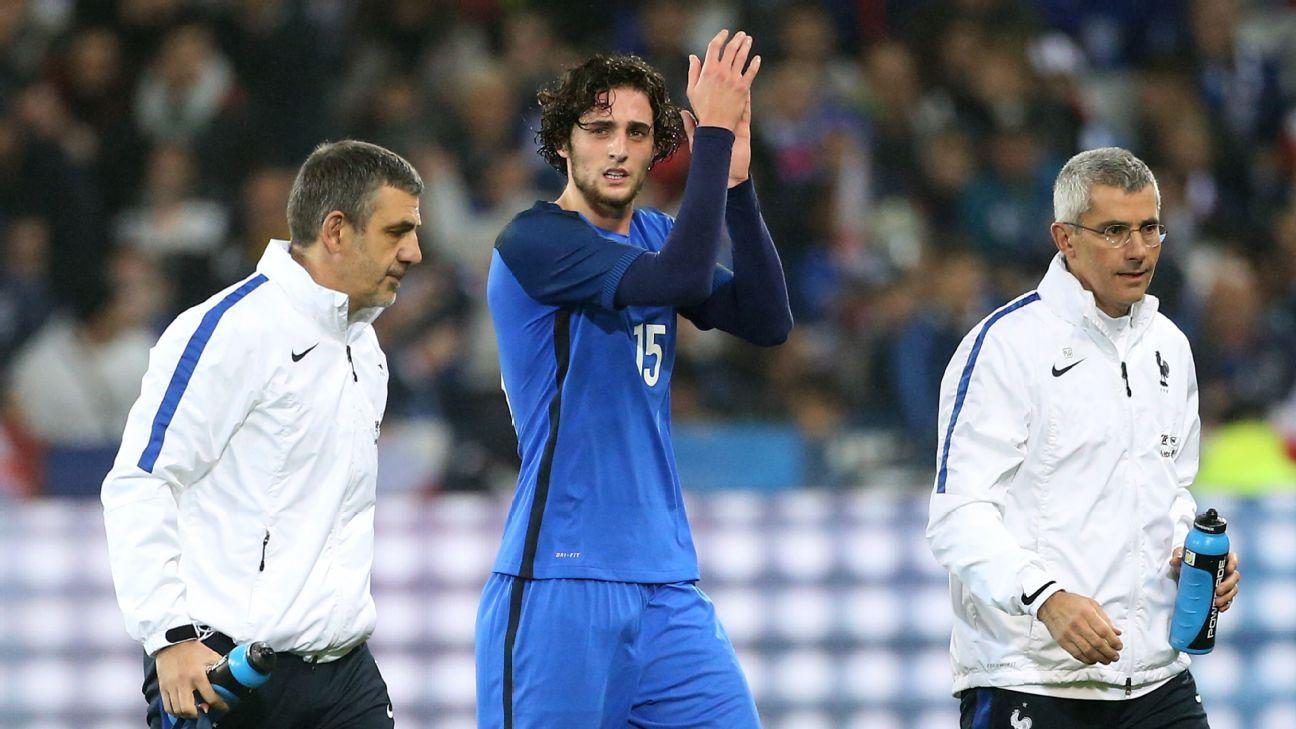 France midfielder Adrien Rabiot