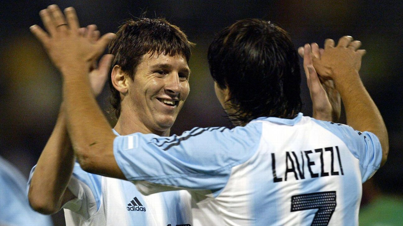 Argentina duo Lionel Messi and Ezequiel Lavezzi