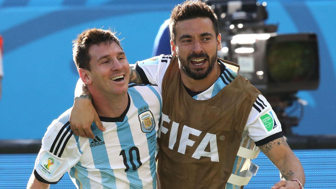 Argentina duo Lionel Messi and Ezequiel Lavezzi