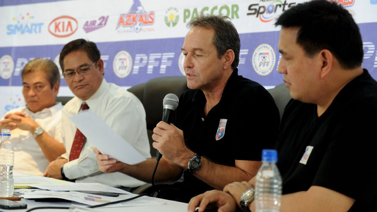Philippines coach Thomas Dooley