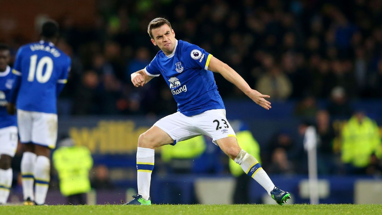 Seamus Coleman scored a late equaliser for Everton.