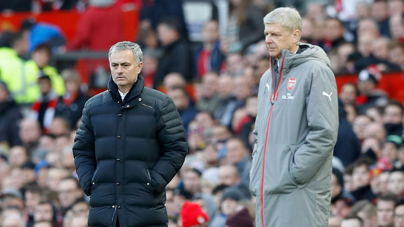 Jose Mourinho and Arsene Wenger