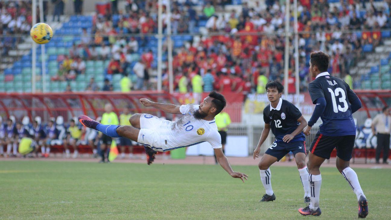 Malaysia's Safee Sali vs. Cambodia