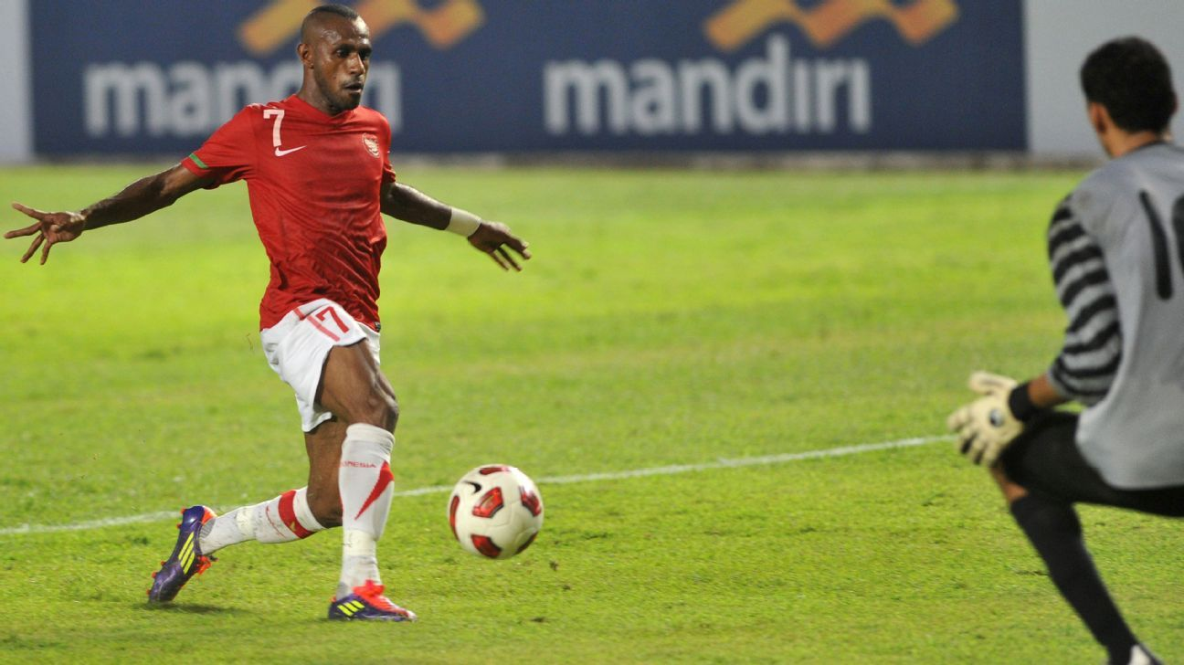 Indonesia striker Boaz Solossa