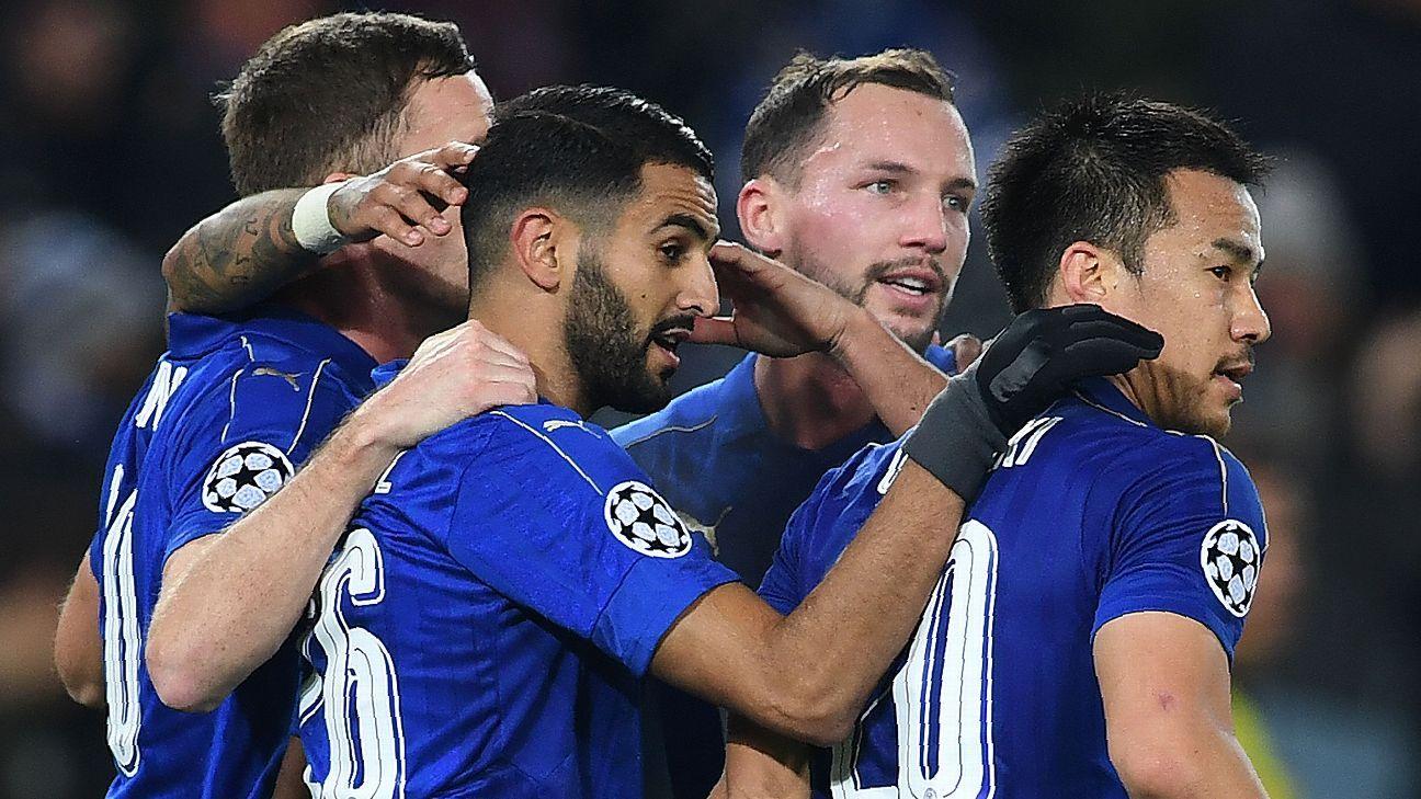 Leicester City celebrate