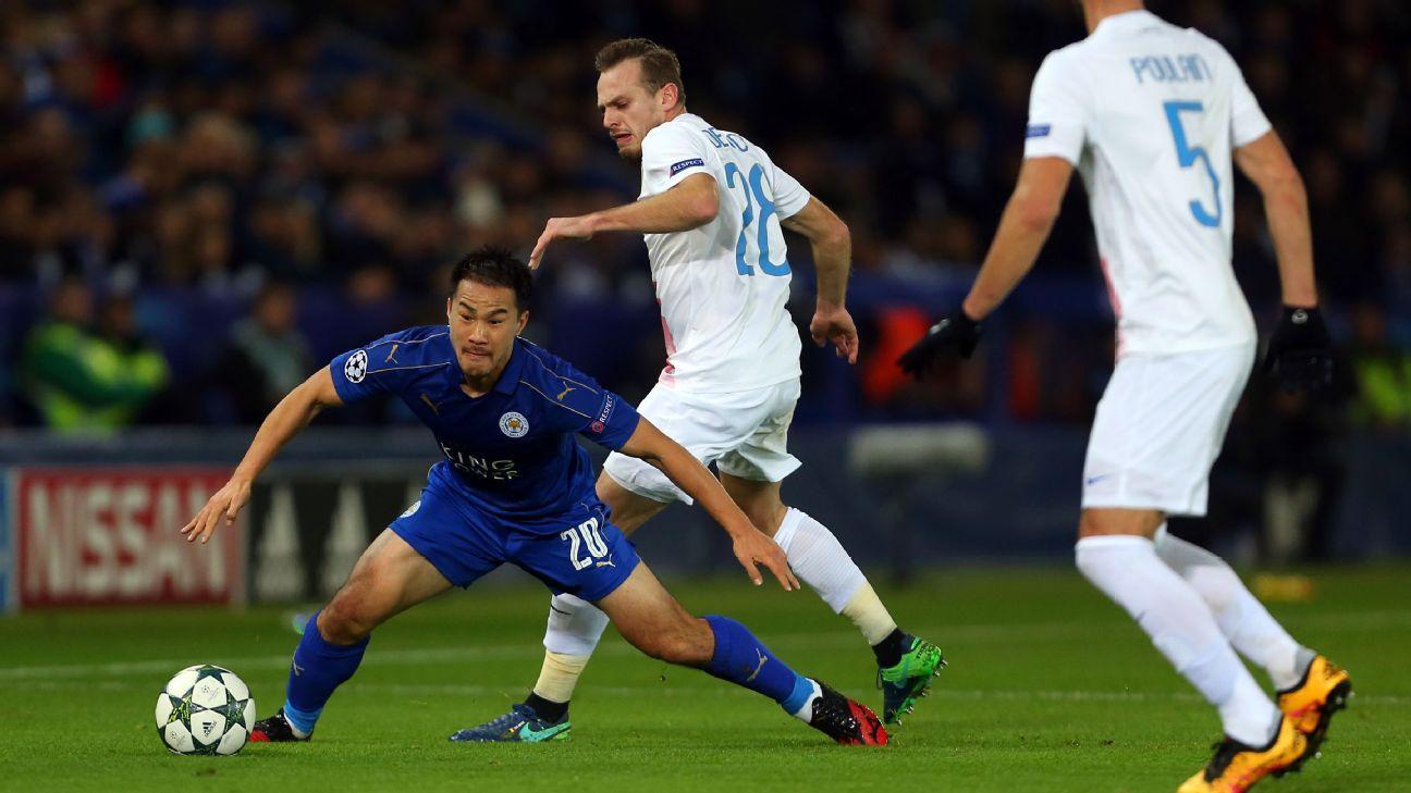 Leicester City striker Shinji Okazaki