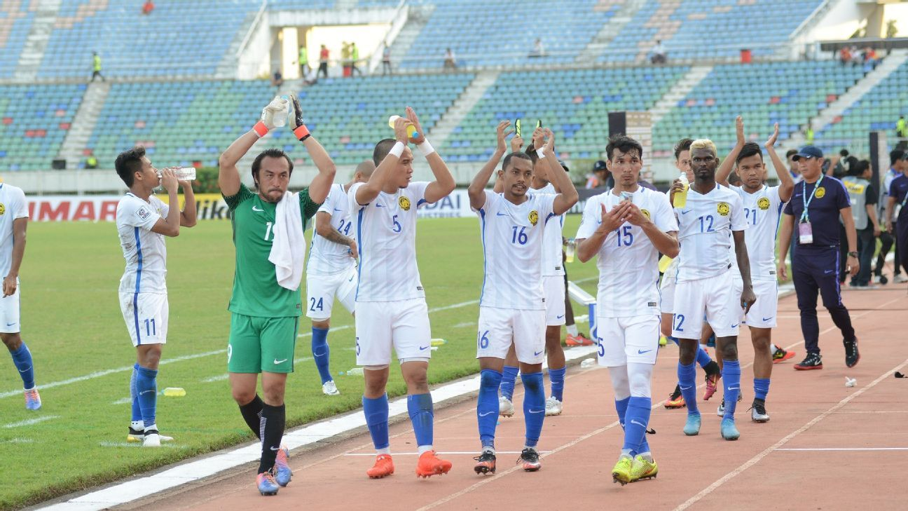 Dejected Malaysia in AFF Cup v Vietnam