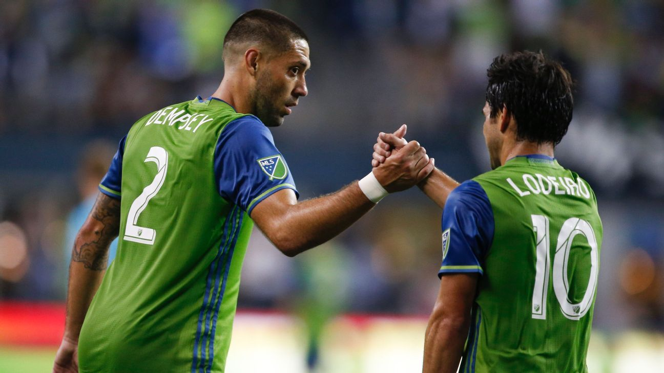 Clint Dempsey and Nicolas Lodeiro
