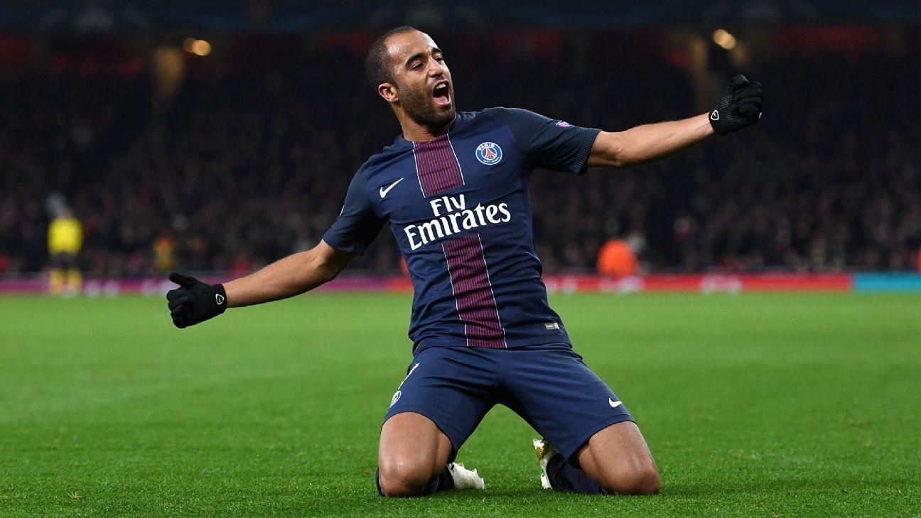 Lucas Moura scored to earn Paris Saint-Germain a point at Arsenal.