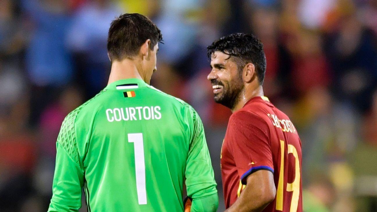 Thibaut Courtois & Diego Costa
