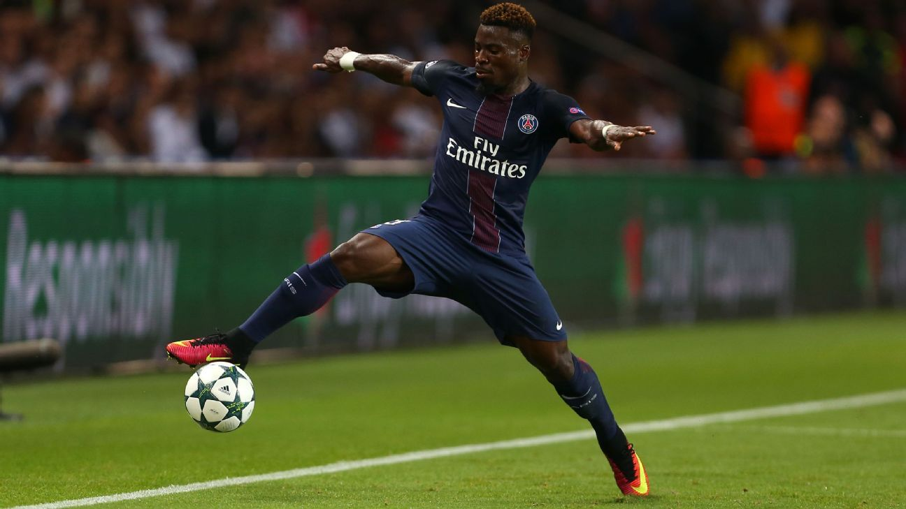 Paris Saint-Germain's Serge Aurier