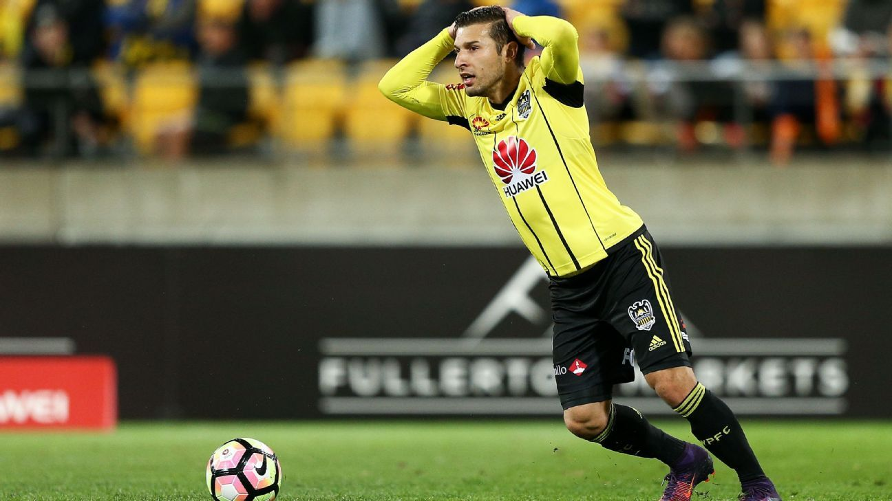 Wellington Phoenix striker Kosta Barbarouses