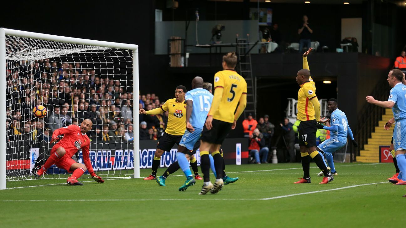 Heurelho Gomes's own goal was the difference as Stoke beat Watford.