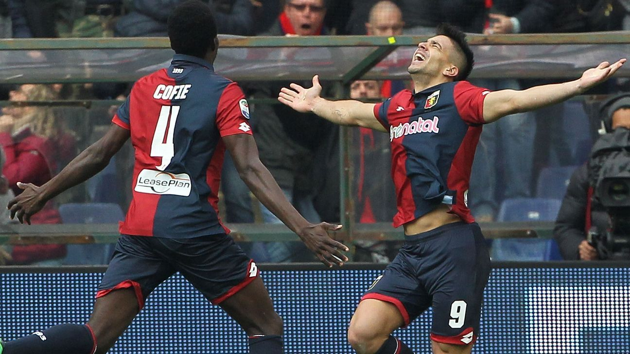 Giovanni Simeone struck twice against Juventus.