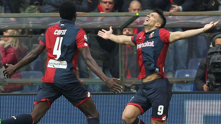 Giovanni Simeone struck twice against Juventus.