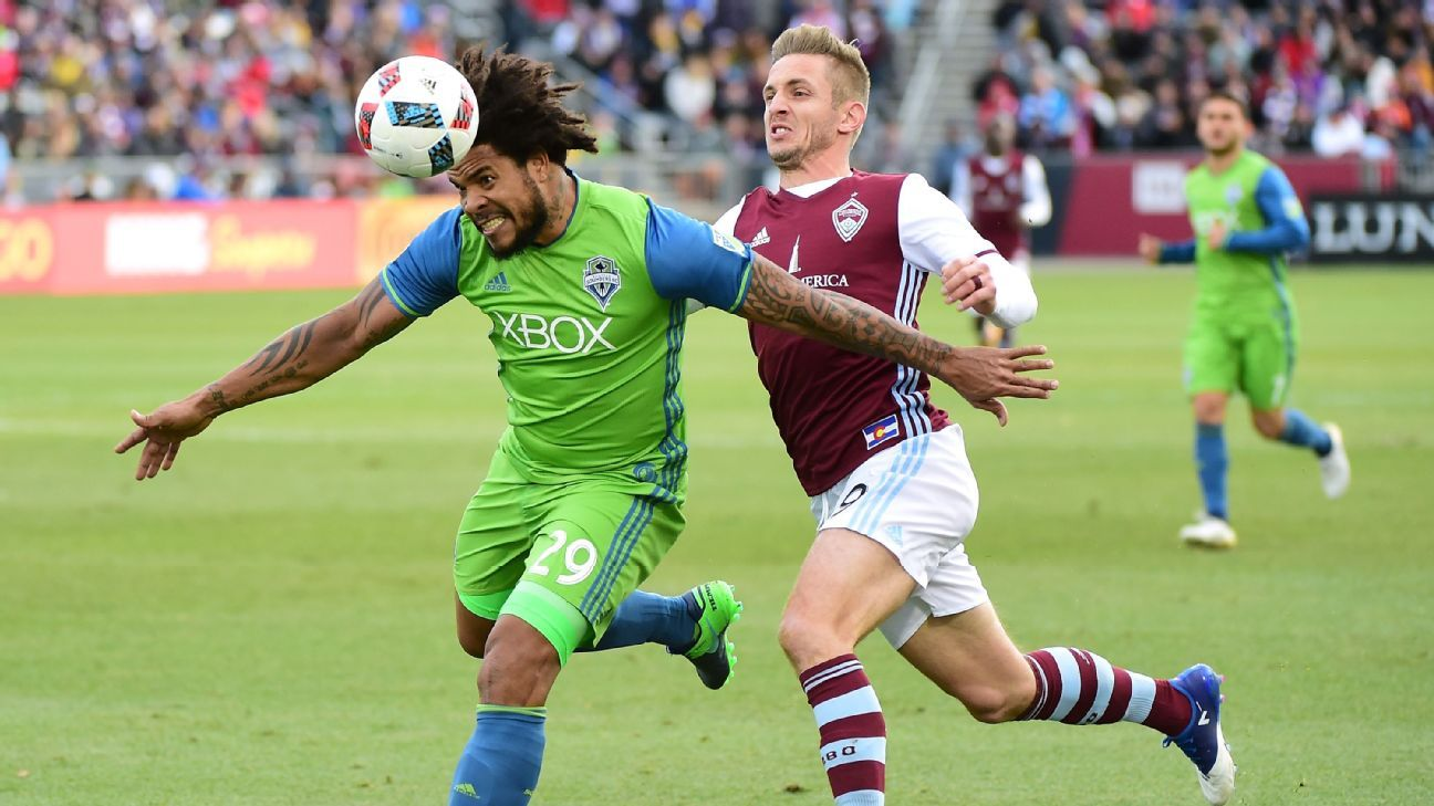 The Seattle Sounders held off the Colorado Rapids to reach the MLS Cup final.