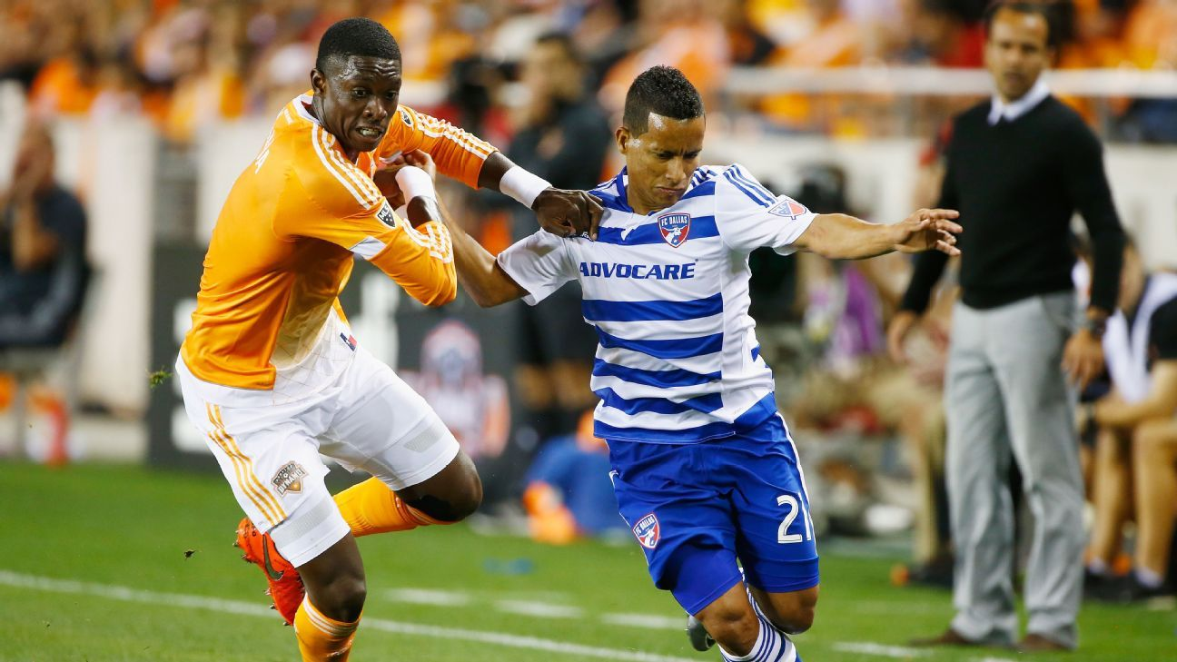 Houston Dynamo defender Jalil Anibaba