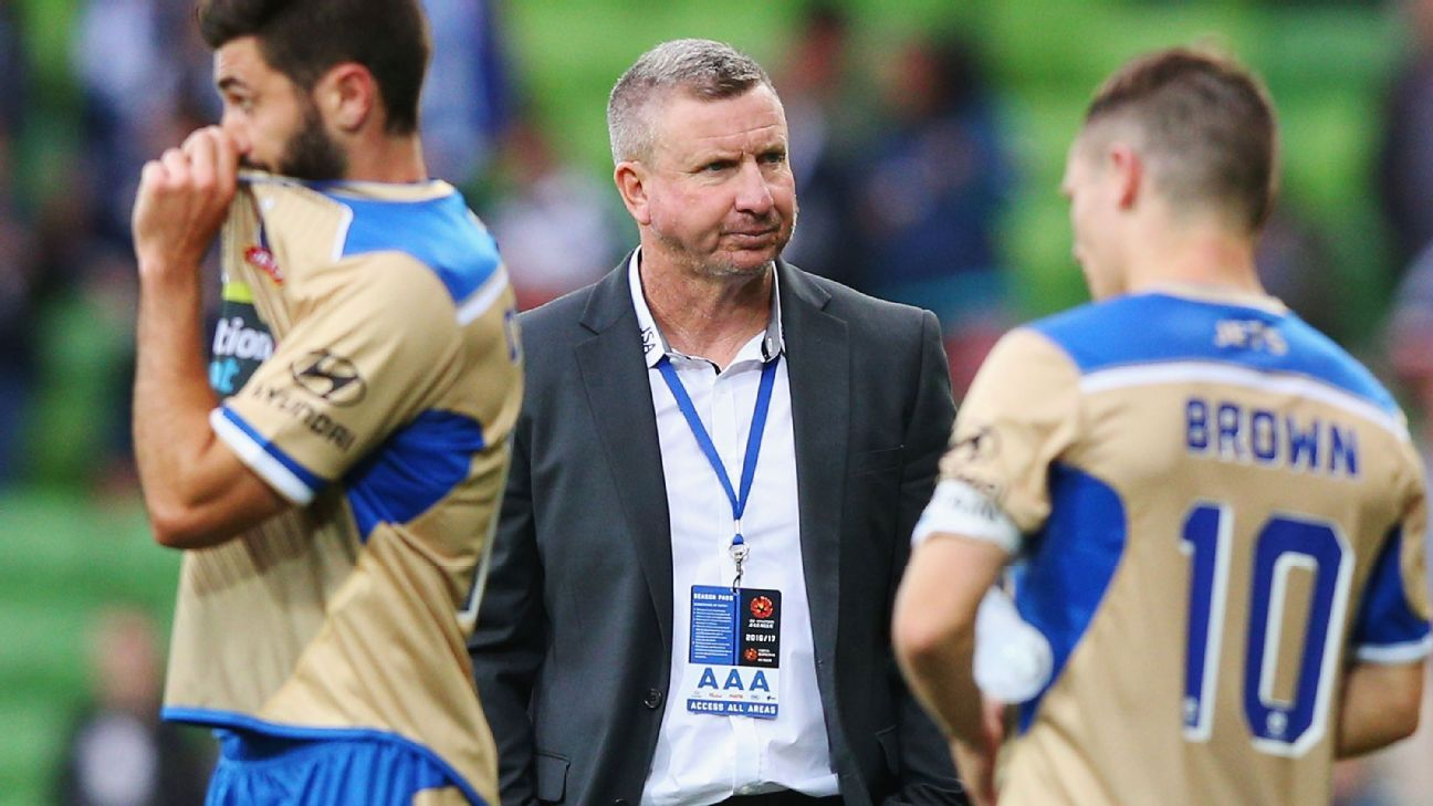 Newcastle Jets coach Mark Jones