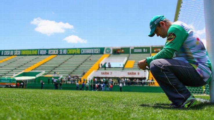 Chapecoense sadness at stadium