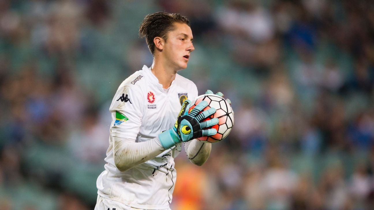 Central Coast Mariners goalkeeper Tom Heward-Belle